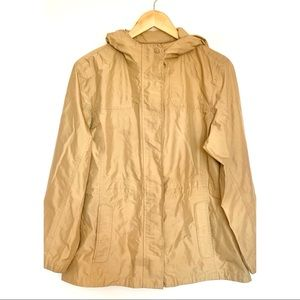 L.L. Bean Petite H2OFF Rain Jacket in Khaki